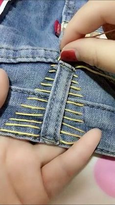 Hand Embroidery Dress Sewing Stitches Embroidery Stitches Sewing Hacks Sewing Tutorials Sewing Crafts Sewing Projects Clothing Hacks Diy Arts And Crafts Sewing Patterns Free, Free Sewing, Hand Sewing, Sewing Hacks, Sewing Tutorials, Sewing Crafts, Sewing Tips, Diy Crafts, Sewing Jeans