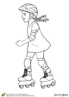 Dessin pour enfant une petite fille entrain de faire ses devoirs colorier coloriages - Coloriage pour petite fille ...