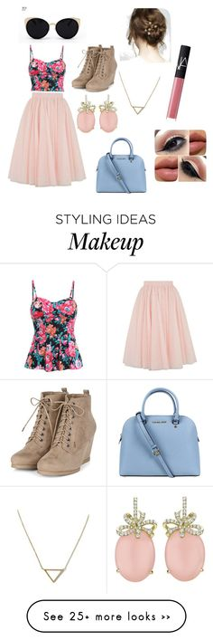 """BEAUTY IN PINK"" by isabellab11-1 on Polyvore featuring moda, Ted Baker, Michael Kors, Una-Home, Banana Republic y NARS Cosmetics"