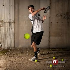 Guys Tennis Action Senior Portraits by Ryan David Jackson Photography located in Fayetteville, NC. www.seniorportraits.ryandavidjackson.com  #outdoorportraits #ncportraits #northcarolina #photography #photographer #ncseniorportraits #bestphotographer #fayettevillephotography
