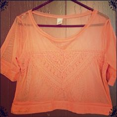 Sheer gypsy boho  top with embroidery. Lightweight sheer top. I wore it over a tank top:) Tops
