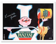 エルベ・モルバン/リトグラフポスターポスター/PANZANI/パンザニ