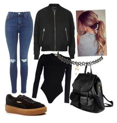 Bomber Jacket❤️ Black Creepers❤️ Ripped Jeans❤️