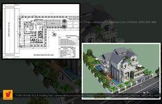 Biệt thự tân cổ điển Desktop Screenshot, Floor Plans, Floor Plan Drawing, House Floor Plans