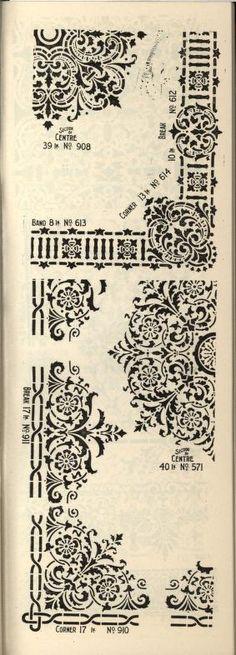 more@ - 1900 - Blue label brand stencils. For all decorative purposes. by Geo. E. Watson Co.
