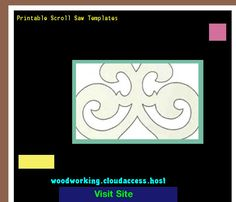 Printable Scroll Saw Templates 220145 - Woodworking Plans and Projects!