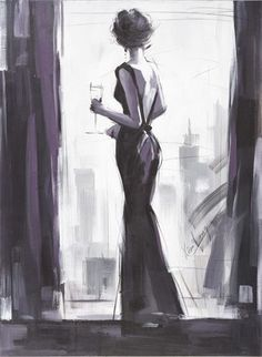Lady in Black canvas art – hotart Unique Drawings, Cool Drawings, Black Canvas Art, Draw On Photos, Fanarts Anime, Figurative Art, Art Inspo, Art Girl, Art Sketches