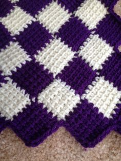 Purple and White Baby Blanket by EntrelacBlankets on Etsy, $125.00