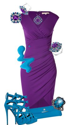 """Purple & Marine"" by jaimie-a ❤ liked on Polyvore"