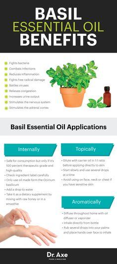 Basil essential oil benefits - Dr. Axe http://www.draxe.com #health #holistic #natural