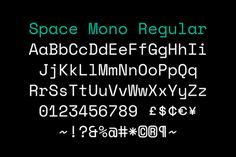 Colophon Foundry / Google Design / Space Mono Regular / Typeface...