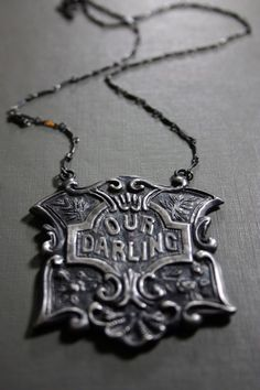our darling funerary necklace by BloodMilk (also see everything else in their etsy shop)