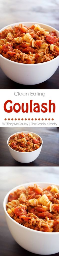 Goulash is one of those feel-good comfort meals you like to come home to after a busy day. Turkey Goulash Recipe, Easy Goulash Recipes, Slow Cooker Recipes, Crockpot Recipes, Healthy Salad Recipes, Real Food Recipes, Healthy Menu, Healthy Dinners, Vegan Recipes