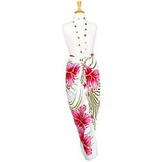 @Overstock - Beautifully styled and infinitely comfortable, a colorful sarong makes a great addition to any wardrobe. This stunning sarong features a lovely Hawaiian/pareo style to give you a pacific flair.  http://www.overstock.com/Worldstock-Fair-Trade/Pink-Green-White-Hawaiian-Sarong-Indonesia/4838902/product.html?CID=214117 $15.49