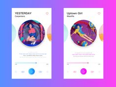 Music ui 11 designed by helo. Connect with them on Dribbble; Mobile Ui Design, App Ui Design, User Interface Design, App Design Inspiration, Library Inspiration, Website Design Layout, Mobile App Ui, Music App, Screen Design