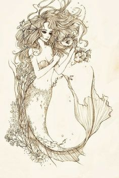a tattoo of a mermaid...perfect summer aspect
