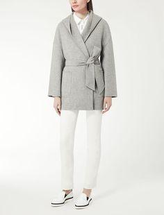 Max Mara SELVA grigio chiaro: Parka in pura lana.
