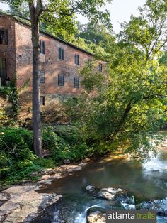 Hike to the covered bridge at Roswell Mill near Atlanta, catching views of historic mill ruins and tumbling whitewater on Vickery Creek