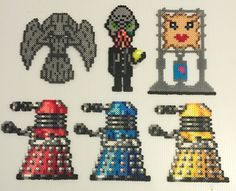 Doctor Who perler bead collection by Terri Mitchell