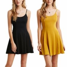 Women Summer Dress Sexy And Casual Solid Dress O-n...