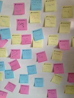 Brooke Weston School made a wall of #BrightPlaces #AlltheBrightPlaces