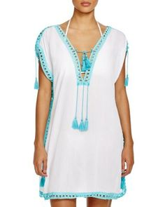 Surf Gypsy Crochet Border Tunic Swim Cover Up | Bloomingdale's