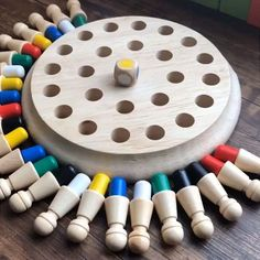 Best Games, Fun Games, Games For Kids, Diy For Kids, Crafts For Kids, Craft Stick Crafts, Diy And Crafts, Wood Games, Joy And Happiness
