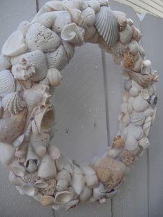 Sea Shell Wreath   Hand Crafted Wreath   Beach by donnahubbard, $105.00