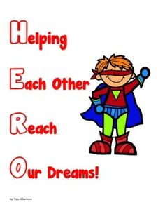These posters are designed for use at the start of the school year.  They are a great addition to a superhero theme to the start of school.  I have each kindergarten student color one of the black and white posters of their choice and then display them on a special bulletin board for the entire year.