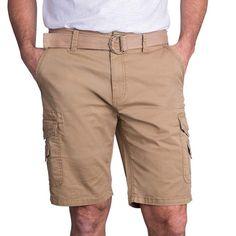 Buy Mens Comfort Stretch Utility Cargo Shorts Adjustable Belt - Tan - and shop more latest Men's Shorts all over the world. Mens Clothing Sale, Men's Clothing, Mens Fashion, Fashion Shorts, Style Fashion, Best Deals Online, Brown Shorts, Vintage Men, Boy Outfits