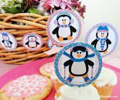 free printable winter party circles
