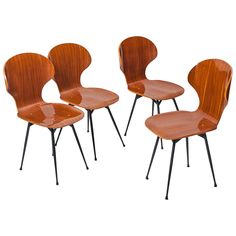 Set of Four Chairs by Carlo Ratti   From a unique collection of antique and modern chairs at https://www.1stdibs.com/furniture/seating/chairs/