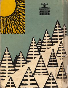rear cover of The Bears on Hemlock Mountain by Alice Dalgliesch, illustrated by Helen Sewell (1952)