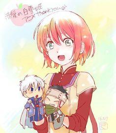 Shirayuki cute sketch | Akagami no Shirayukihime | Snow White with the Red Hair | 赤髪の白雪姫