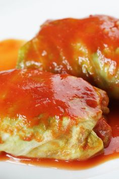 Stuffed Cabbage Rolls with Ground Beef & Rice Dinner #Recipe