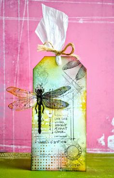 shirley-bee's stamping stuff: Tim Holtz 12 Tags of 2014 - August - just!