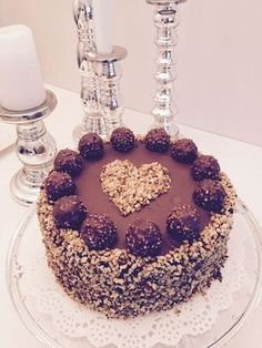 Recipes with a heart ♥: Rocher tartlets ♡ Rezepte mit Herz ♥: Rocher Törtchen ♡ 10 Source by laceylo Best Birthday Cake Recipe, Cool Birthday Cakes, Cheesecake Cake, Chocolate Cheesecake, Cake Chocolate, Rocher Torte, Salty Cake, Pumpkin Spice Cupcakes, Easy Cake Recipes