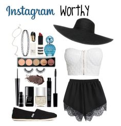 """Instagram Worthy"" by unicornshadows ❤ liked on Polyvore featuring NLY Trend, TOMS, Nails Inc., Chanel, MAC Cosmetics, Lord & Berry, Marc Jacobs, Topshop, McQ by Alexander McQueen and Forever 21"