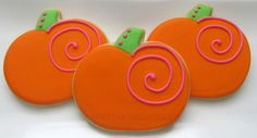 2 dozen custom cutout sugar cookies. Each cookie is baked and hand decorated. These whimsical pumpkin cookies make the perfect treat for any