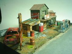 Route 66 Abandon gas station paper model