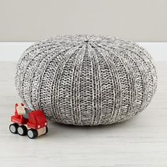 Kids Seating: Grey Variegated Pouf Seater in All Kid Seating