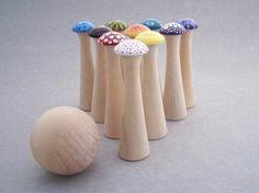 jouets en bois, bowling enfants