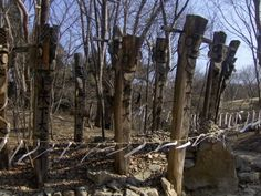 Jangseung, a sort of totem poles that ward off evil spirits and ghosts  Korean