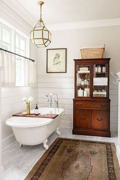 Vintage Bathtub. Historic home renovation. Bathroom Renovation. Classic white claw-foot tub. Historic home. #Clawfoottub