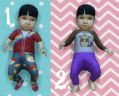 It's all about clutter, Baby Overrides: Set 15 - Light Skin/Girl + Black...