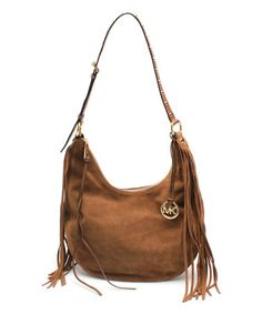 Another great find on #zulily! Caramel Rhea Suede Slouchy Hobo by MICHAEL Michael Kors #zulilyfinds