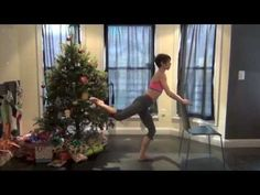 Barre Leg Series - if you have a few minutes and a chair, you have a leg workout! Barre Workout. Pilates mat workout with Tandy Gutierrez. Chair workout.