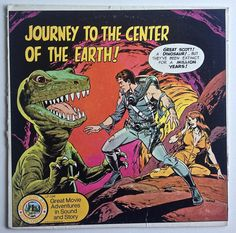 Journey To The Center Of The Earth!  LP Vinyl Record Album, Wonderland Records - LP-296, Wally Wood cover art, 1974