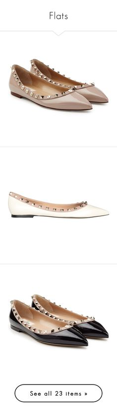 """Flats"" by m-2401-wh ❤ liked on Polyvore featuring shoes, flats, mauve, pointed toe flats, leather pointy toe flats, leather ballet flats, pointy toe ballet flats, ballet flat shoes, bianco and patent leather shoes"