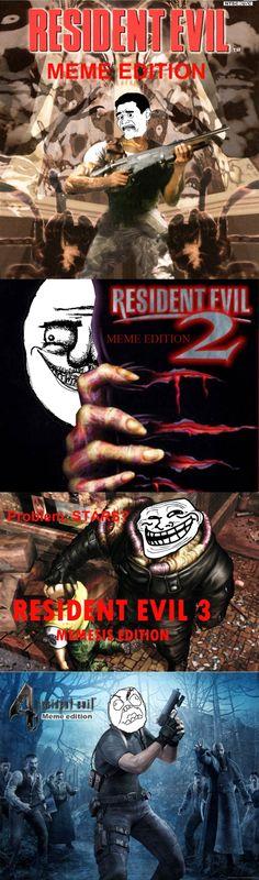 Resident Evil, versión memes